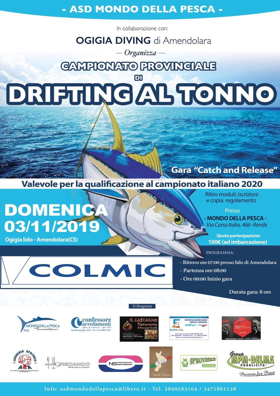 Campionato Provinciale di DRFTING al TONNO ( DOM. 3 NOVEMBRE 2019 ) – Valevole per le Qualifacazioni al Campionato Italiano 2020